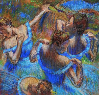 Edgar Degas - Blue Dancers - Study