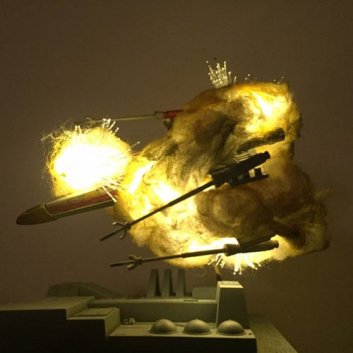 These Exploding Star Wars Ships Were Shot with Cotton and LEDs
