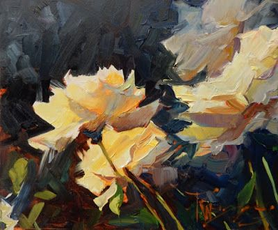"""Rose Demo"" original oil painting by Robin Weiss"