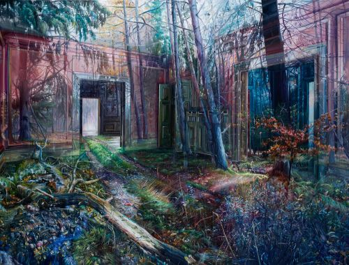 Multi-Layered Oil Paintings by Jacob Brostrup Blur Natural and Manmade Environments