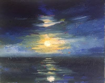 "Moon over Ocean, ""Moonlight Dance,"" by Amy Whitehouse"