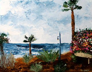 Mark Webster - Canary Islands Palette Knife Acrylic Landscape Painting