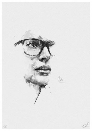 "Crossconnectmag: Pencil portraits from Florian Nicolle. ""I try"