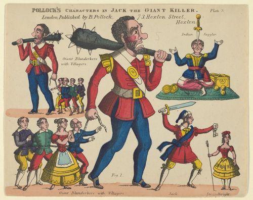 Benjamin Pollock - Characters from Jack and the Giant Killer, for a Toy Theater, 1870-90