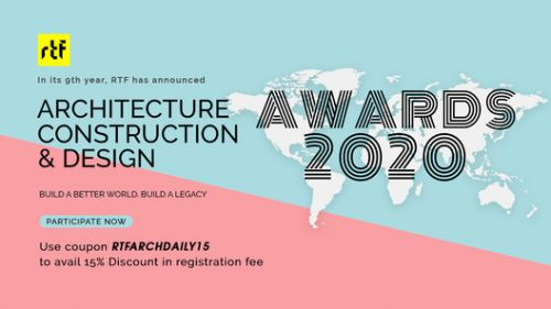Enter Now in RTF's Architecture, Construction & Design Awards 2020