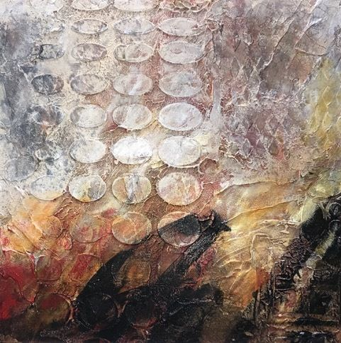 "Contemporary Art, Abstract Painting, Expressionism, Mixed Media, ""Timeworn-1"" by Contemporary Artist Liz Thoresen"