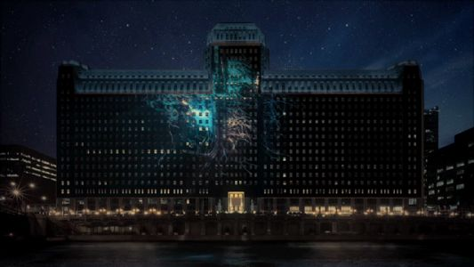 Over 2.5 Acres of Projected Images and Videos Illuminate Chicago's Riverfront