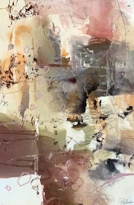 """Contemporary Art, Abstract Fine Art Painting """"Cryptic Messages"""" by Intuitive Artist Joan Fullerton"""