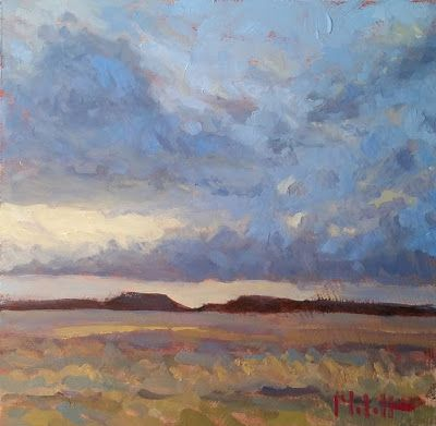 Contemporary Impressionism Landscape Clouds Oil Painting