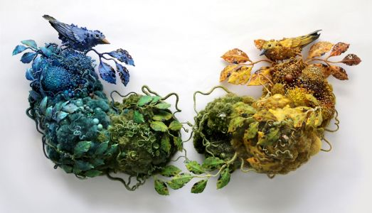 Symbiotic Assemblages by Amy Gross Combine Animals and Insects with Fictionalized Habitats