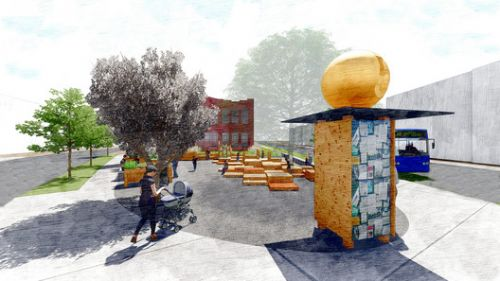 """Hartford Architecture Students Win Urban Sustainability Competition Through """"Live, Work, Play"""" Park Design"""