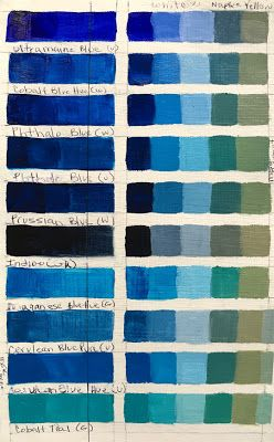 Blue Color Charts
