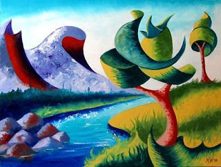 Mark Webster - Abstract Landscape Oil Painting 2.11.13