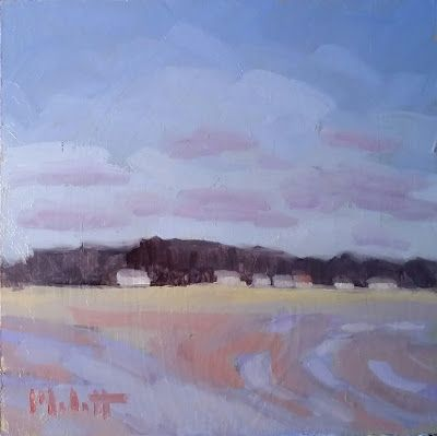 February Landscape Painting Original Art Heidi Malott