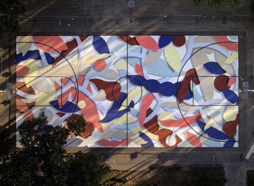 Floor murals by Hell'o and Oli-B in Belgium