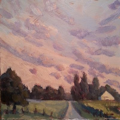 Throwback Thursday Contemporary Artwork Rural Landscape Oil Painting