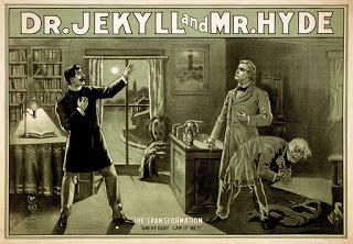 Unidentified artist, Poster for a theatrical adaptation of 'Strange Case of Dr Jekyll and Mr Hyde'
