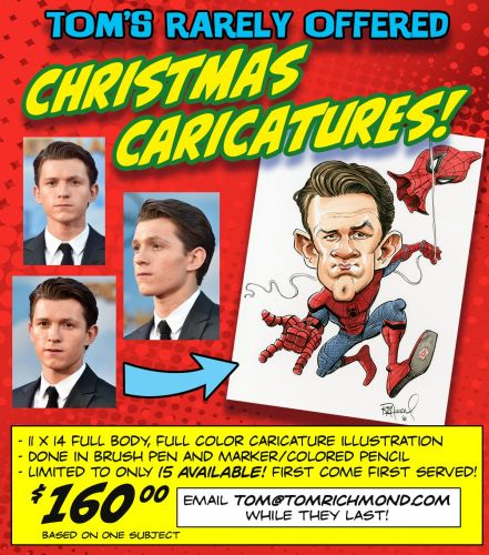 Limited Holiday Caricatures Available!