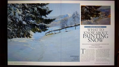 My Article on Painting Snow - and Painting IN the Snow!