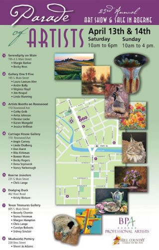 You're Invited! - Boerne Parade of Artists