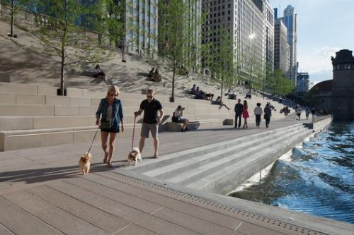 This Mesmerizing Drone Footage Showcases the Success of the New Chicago Riverwalk