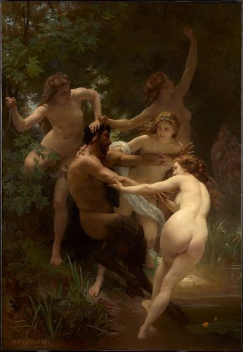Bouguereau's Nymphs and Satyr Up Close