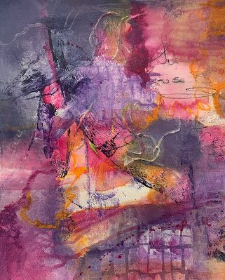 """Expressionism, Contemporary Art, Mixed Media Abstract Painting, """"Mixed Emotions"""" by Contemporary Artist Tracy Lupanow"""