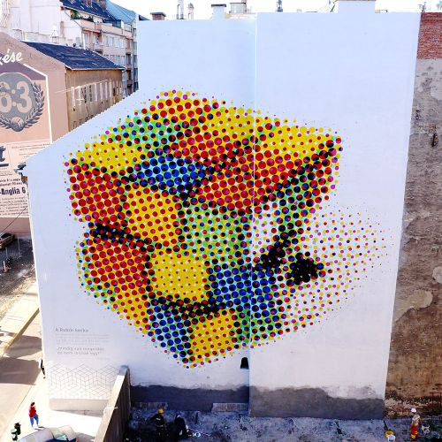 """Rubik Cube"" by Neopaint Works in Budapest, Hungary"