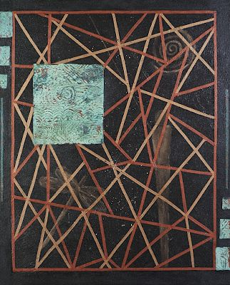"""Mixed Media Abstract Painting,""""Web of Life"""" by Contemporary Arizona Artist Pat Stacy"""