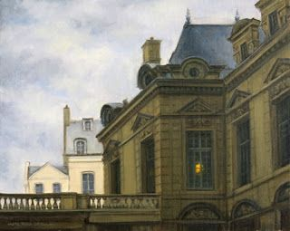 SOLD 'Misty Morning in Le Marais' Il Commencé à Paris Series An Original Oil Painting by Claire Beadon Carnell