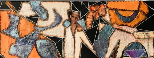 "Gloria J Zucaro ""Triangles"" Mixed Media Collage"