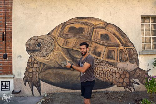 Hisham Echafaki New Mural in France