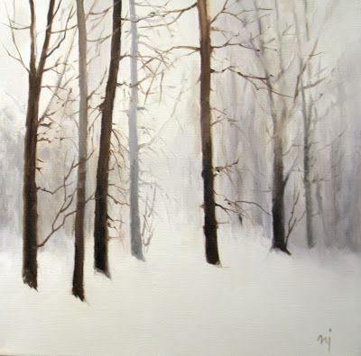 Trees in the Snow - SOLD