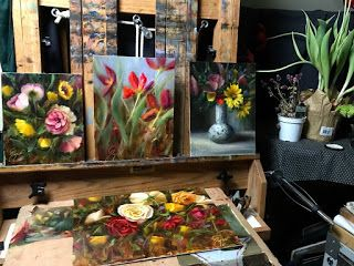 Flowers are in the House by artist Pat Meyer