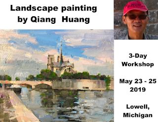 Landscape painting workshop at Lowell Michigan