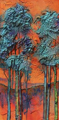 "Contemporary Landscape, Trees, Fine Art Print ""Summer Love"" © Carol Nelson Fine Art"
