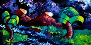 Mark Webster - Abstraction 14 - Abstract Landscape Oil Painting