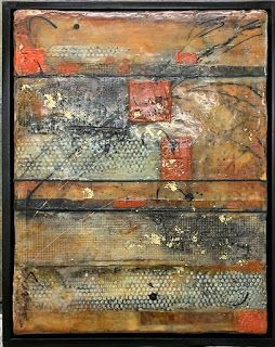 "Encaustic Abstract Art, Mixed Media, Contemporary Painting, ""A ""Symmetrical Day"""" by Texas Contemporary Artist Sharon Whisnand"