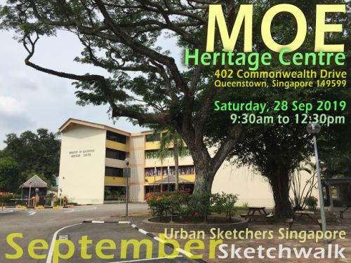September Sketchwalk at MOE Heritage Centre