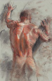 Male nude back study II