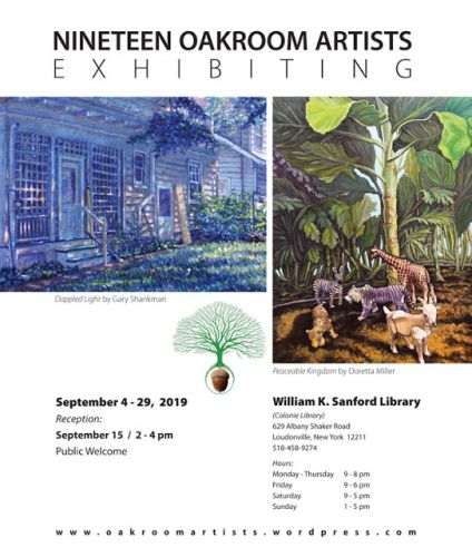 Nineteen Oakroom Artists Exhibiting