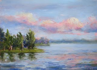 The Play of Light, New Contemporary Landscape Painting by Sheri Jones