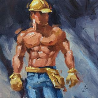 MALE FIGURATIVE, HARD BODY by TOM BROWN