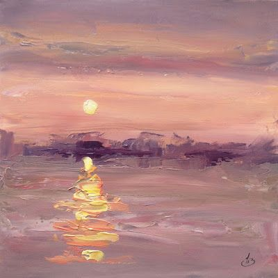 SUNSET OVER WATER by TOM BROWN