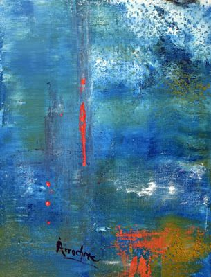 """Abstract Painting, Contemporary Art """"Personal Freedom"""" by International Contemporary Abstract Artist Arrachme"""