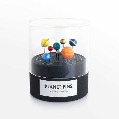 Hand-Painted Planetary Push Pins