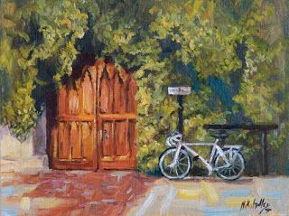 """New """"Going to Class"""" from Oxford by Contemporary Impressionist Niki Gulley"""
