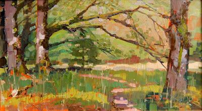 """Maple Grove"" Paint the Peninsula, plein air landscape painting by Robin Weiss"