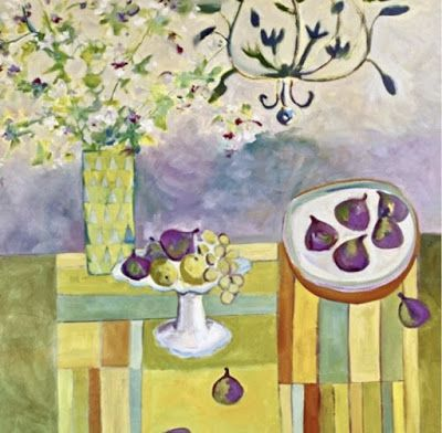 "Contemporary Still Life Art Painting ""Figs"" by Santa Fe Bold Expressive Artist Annie O'Brien Gonzales"