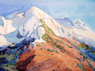 """Peak Near the Eiger"" in the Second Annual AIS Impressions Small Works Showcase"